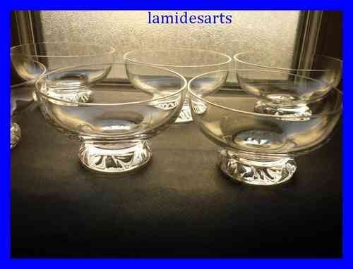 DAUM KIM CRYSTAL set 6 Champagne Glasses