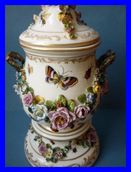 Jacob Petit Paris Porcelain Vase Meissen Style 1862