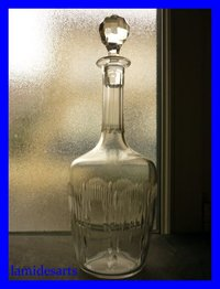 CARAFE A VIN CRISTAL BACCARAT MOLIERE  31 cm      stock: 2