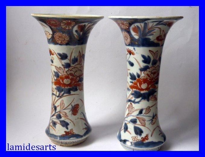 Japanisches Imari-Porzellan Vasen 18. Jahrhundert