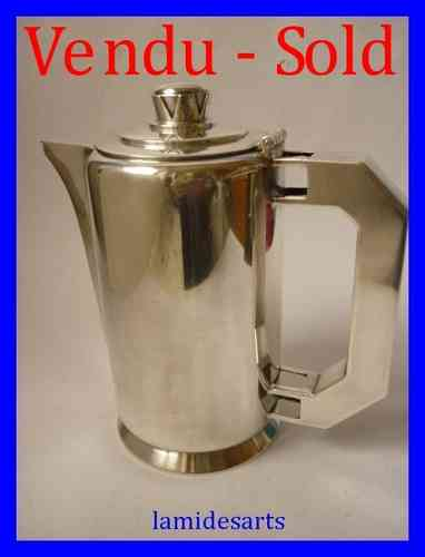 "ERCUIS SILVER PLATED COFFEE POT "" NEUILLY "" CREATED BY PACON for the liner NORMANDY"