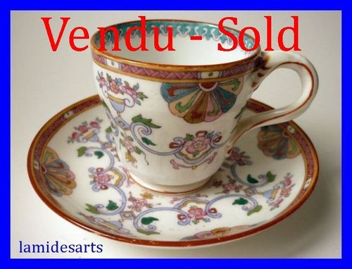 MINTON porcelain cup and saucer n° 4840