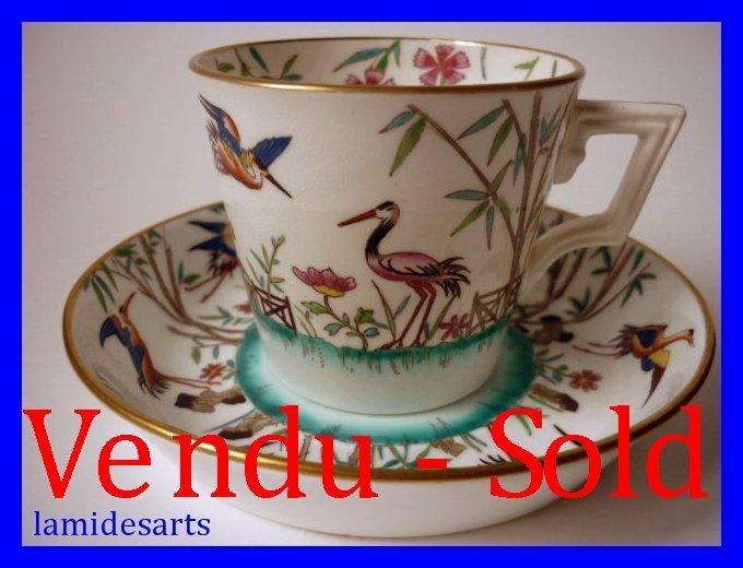 Minton Rare Tasse A Cafe En Porcelaine Decor Japonais 1872
