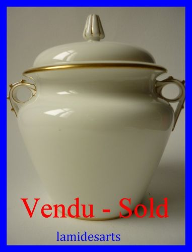 Sevres porcelain sugar bowl 1889 - 1890