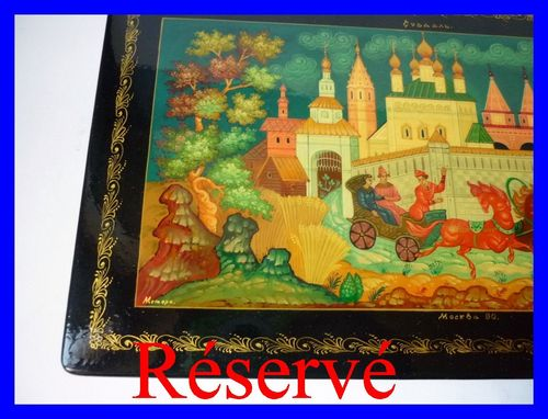 Hand Painted Russian Lacquer Mstera Box 1978