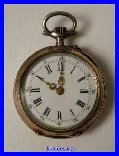 STERLING SILVER POCKET WATCH 1880 - 1900