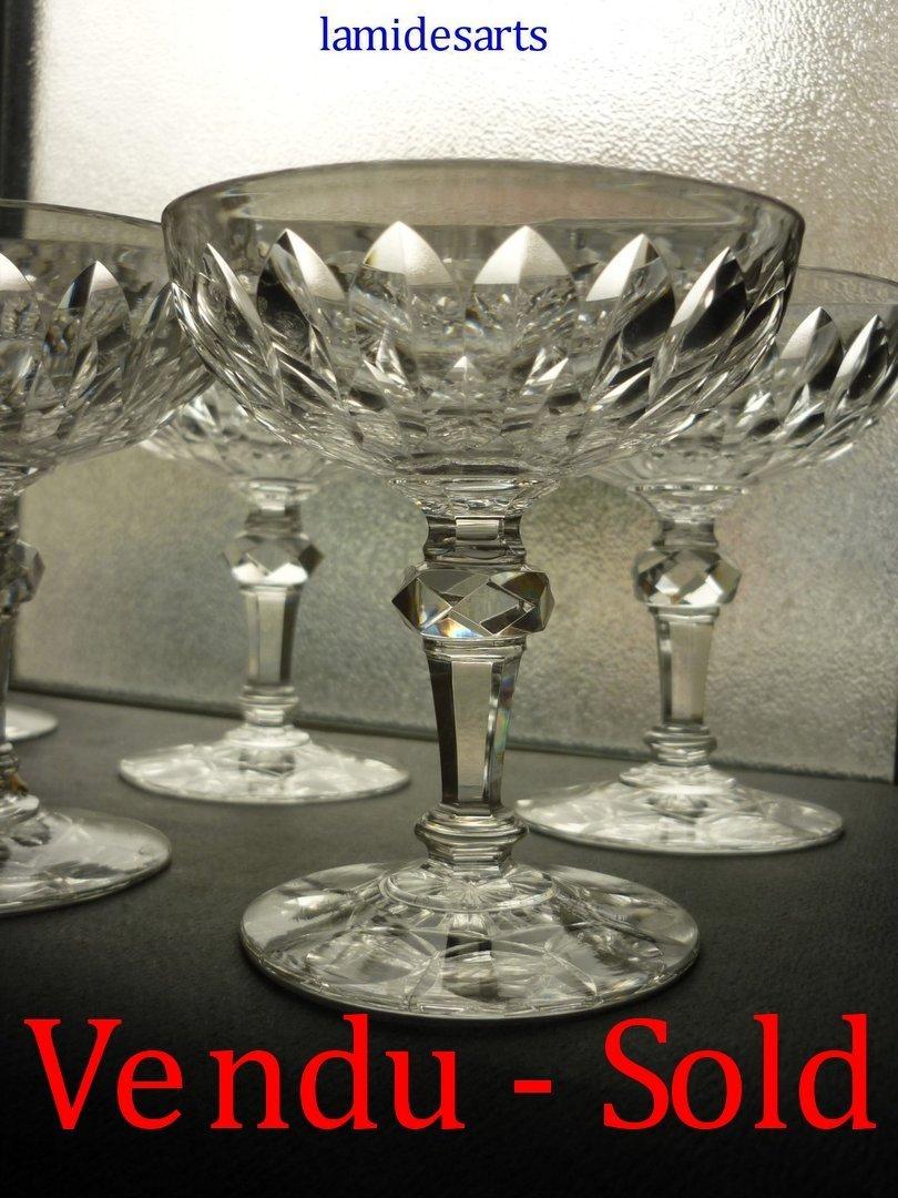 cristal baccarat juvisy 6 coupes a champagne. Black Bedroom Furniture Sets. Home Design Ideas
