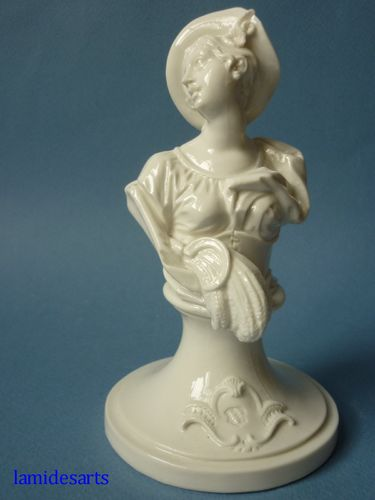 Nymphenburg porcelain bust emblematic of the Summer 1860 - 1900