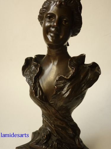 ART NOUVEAU BRONZE WOMAN 1900 - 1910