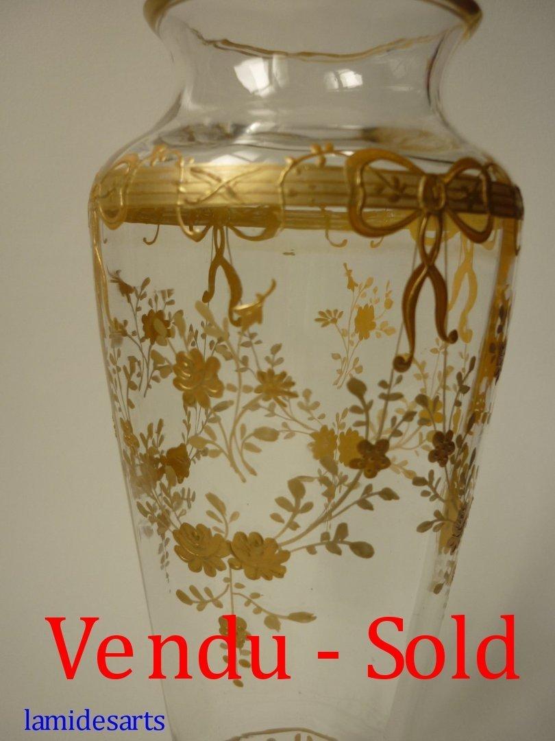 vase cristal baccarat email or 1880 1900. Black Bedroom Furniture Sets. Home Design Ideas