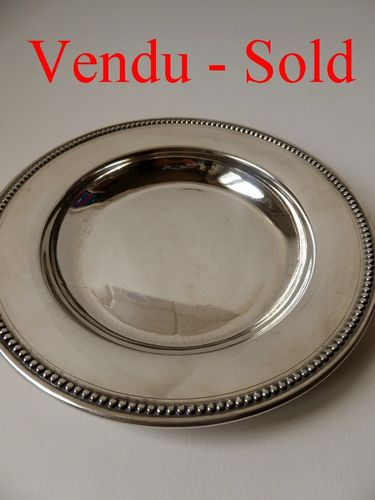 FRENCH STERLING SILVER BABY PLATE Louis Coignet Paris