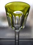 BACCARAT CRYSTAL HOCK WINE GLASS ROEMER chartreuse  stock: 2