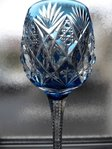 SAINT LOUIS FLORENCE CRYSTAL COLOURED RHINE WINE GLASS ROEMER BLUE