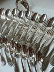 CHRISTOFLE VENDOME SILEVER PLATED FLATWARE 37 pieces BOXED
