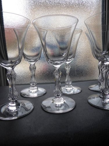 SAINT LOUIS CRYSTAL LOZERE SET OF 6 SHERRY GLASSES N°5  stock: 2 sets of 6 glasses
