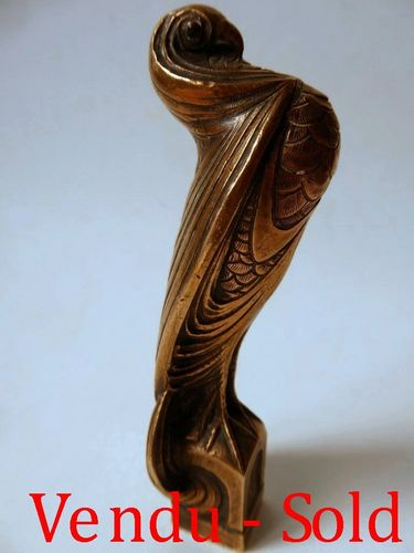 BRONZE SEAL IN A SHAPE OF A BIRD 1920's - 1930's
