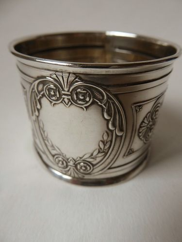 STERLING SILVER NAPKIN RING 32 grams CHarles Barrier Paris 1905