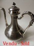 SUPERB STERLING SILVER COFFEE POT FRAY FILS 1875 - 1891