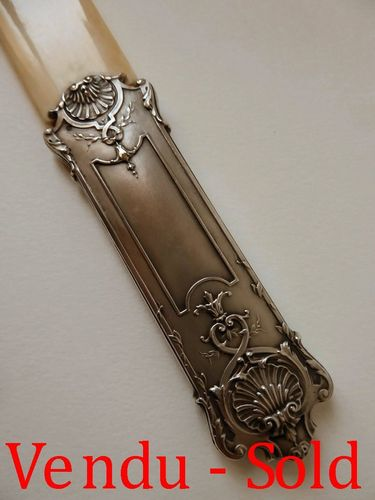IVORY and SILVER LETTER OPENER 1880 - 1900