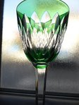 BACCARAT ARMAGNAC CRYSTAL HOCK WINE GLASS ROEMER green