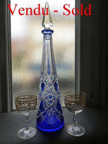 BACCARAT CRYSTAL DECANTER LAGNY PATTERN   42,5 cm
