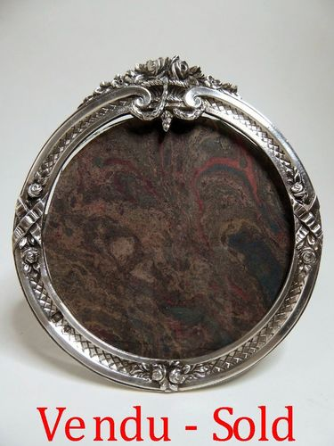 1900's FRENCH STERLING SILVER PICTURE FRAME