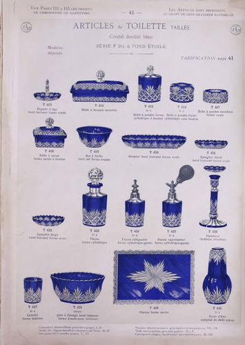 CRISTAL BACCARAT CATALOGUE ARTICLES DE TOILETTE FLACON POUDRIER 1903  127 pages PDF A TELECHARGER