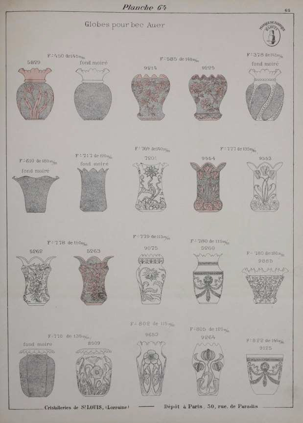 SAINT LOUIS CRYSTAL CATALOG 1905 LIGHTING SHADES 113 pages PDF TO DOWNLOAD