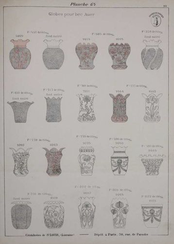 SAINT LOUIS CRYSTAL CATALOG 1905 LAMPENSCHATTEN   to download