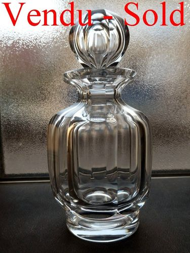 BACCARAT MALMAISON CRYSTAL PERFUME BOTTLE 17 cm signed