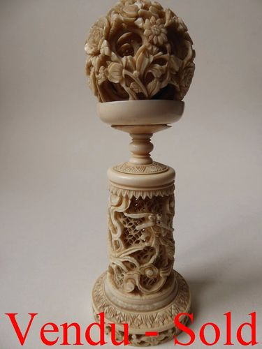 Fine antique Ivory Chinese Puzzle Ball 1850 - 1900