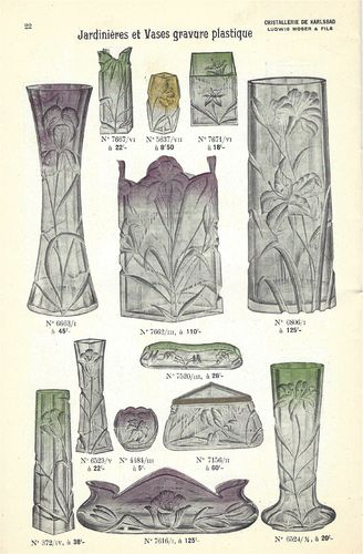 JUGENDSTIL KARLSBAD MOSER KRYSTAL CATALOG   to download