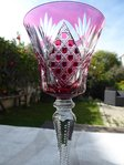 SAINT LOUIS VOLOGNE CRYSTAL HOCK WINE GLASS RED  Stock: 2