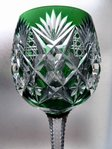 SAINT LOUIS FLORENCE CRYSTAL RHINE WINE GLASS ROEMER GREEN