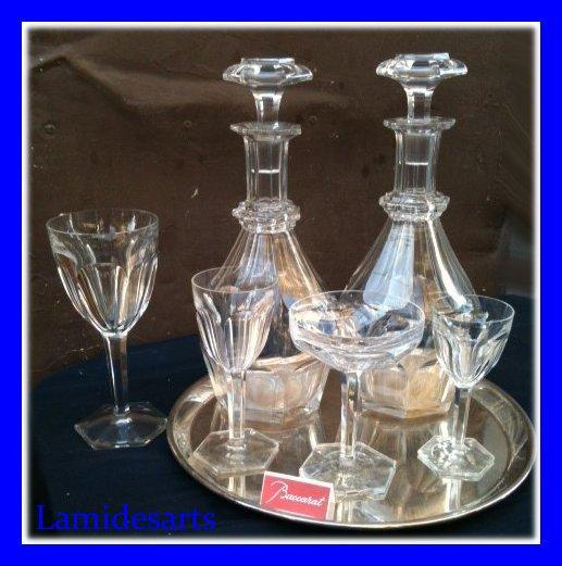 Service de verres en cristal de baccarat mod le compiegne proche harcourt 40 - Service harcourt baccarat ...