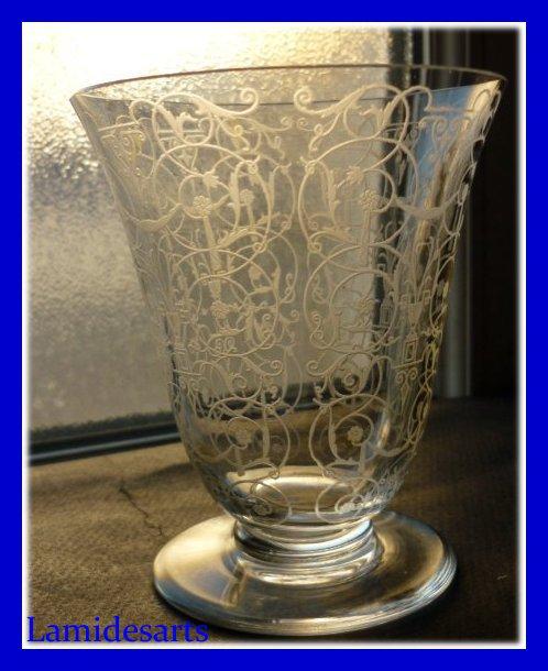 verre ancien cristal baccarat michel ange michelangelo 1920 10 2 cm. Black Bedroom Furniture Sets. Home Design Ideas