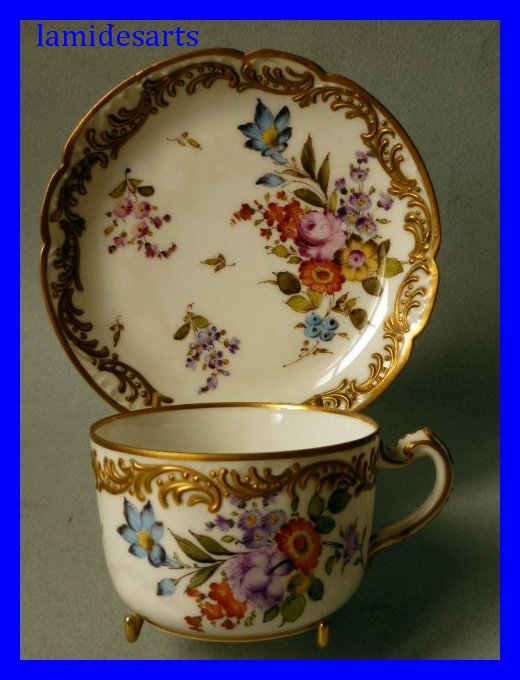 Haviland limoges porcelain tea cup and saucer 1893 - Porcelaine de haviland ...