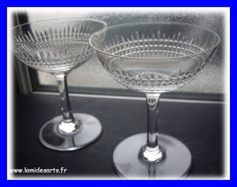 2 coupes a champagne cristal baccarat nancy stock 0 - Coupe de champagne cristal ...