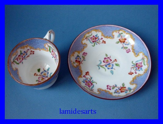 Sarreguemines Minton Porcelain Cup And Saucer 1880 1900