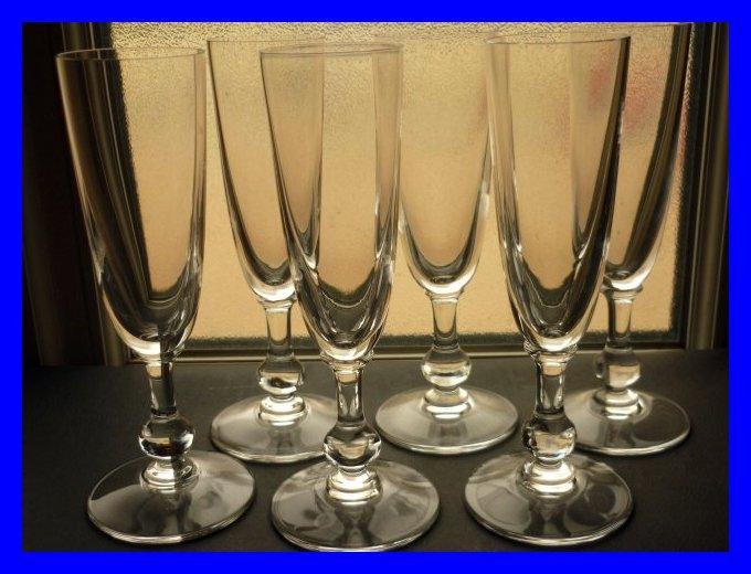 6 flute de champagne en cristal de saint louis massenet uni. Black Bedroom Furniture Sets. Home Design Ideas