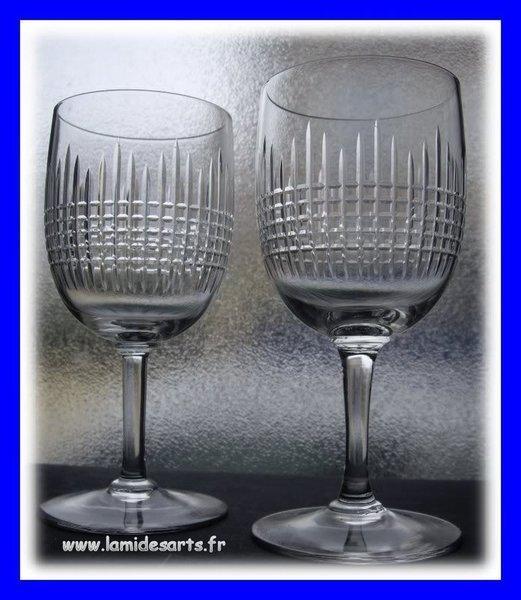 2 verres eau cristal de baccarat mod le nancy 15 5 cm stock 0 - Verres baccarat anciens ...