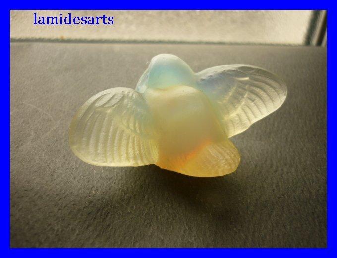 Sabino Figurine En Verre Opalescent Oiseau