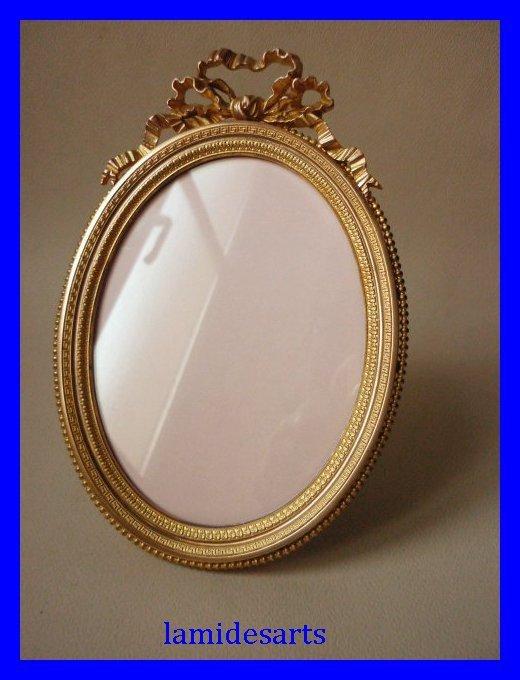 porte photo cadre bronze dore style louis xvi charleux paris 1880. Black Bedroom Furniture Sets. Home Design Ideas