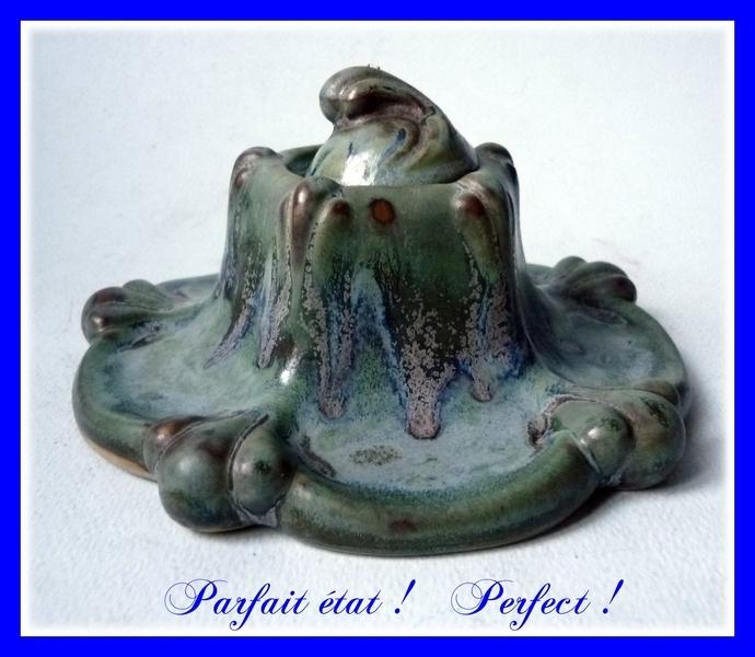 Art Nouveau Denbac Ceramic Inkwell 1900