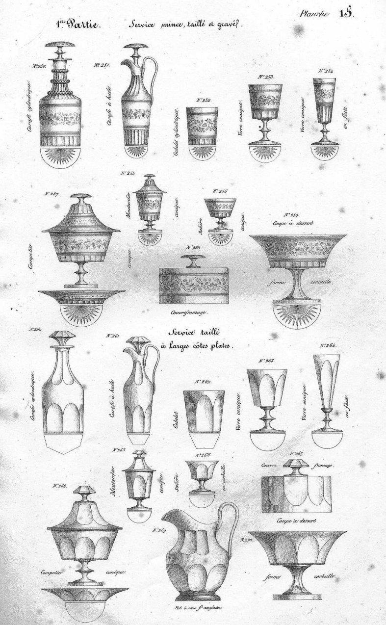 Cristal de baccarat et de saint louis catalogue commun 1840 a telecharger - Cristal st louis ancien ...