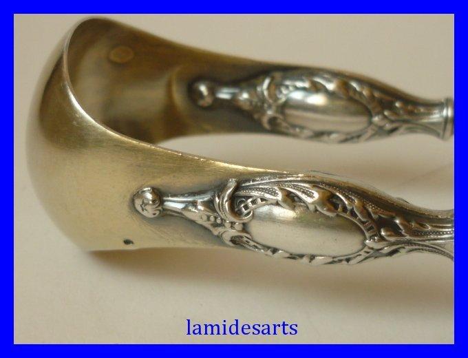 pince a sucre argent pattes de lion henry gabert 1890. Black Bedroom Furniture Sets. Home Design Ideas