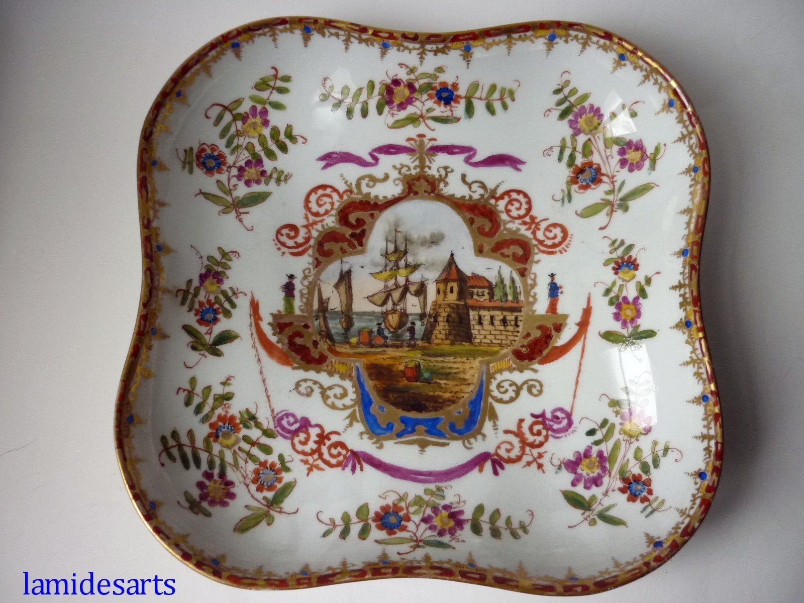 Carl Knoll Fischern Karlsbad Porcelain Dish 1850 1860