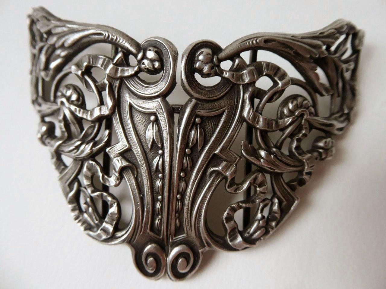 Boucle de Ceinture ARGENT MASSIF stlye Louis XVI 1900 - 1930 7c5a0528360