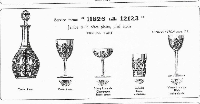 CRISTAL DE BACCARAT CATALOGUE 1916     99 pages A TELECHARGER