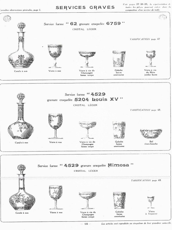 cristal de baccarat catalogue 1916 99 pages a telecharger. Black Bedroom Furniture Sets. Home Design Ideas